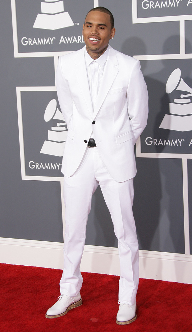 55th Annual GRAMMY Awards held at Staples Center - Arrivals Featuring: Chris Brown Where: Los Angeles, California, United States When: 10 Feb 2013