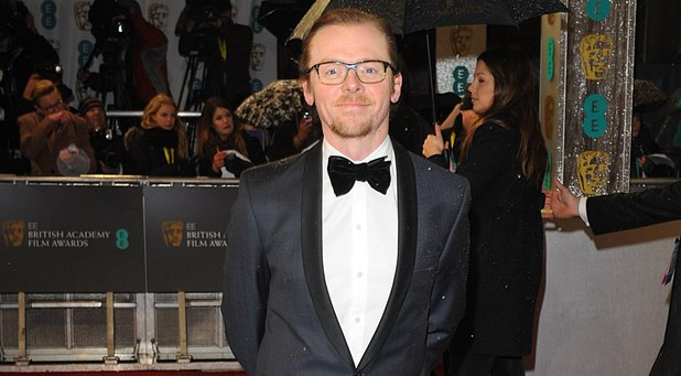 Simon Pegg arriving for the 2013 British Academy Film Awards at the Royal Opera House