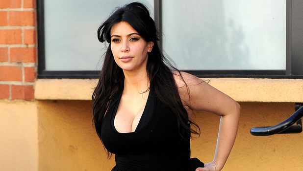 Kim Kardashian leaving the gym in Studio City, Los Angeles, America - 15 Feb 2013