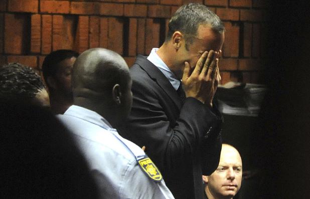 Oscar Pistorius weeps in court in Pretoria