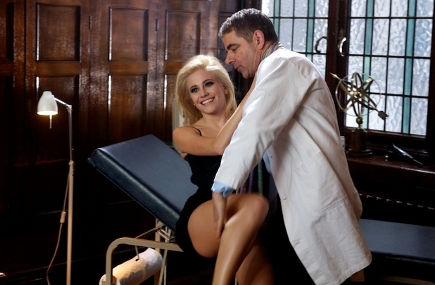 Rowan Atkinson and Pixie Lott
