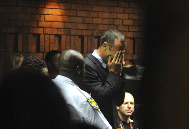 Oscar Pistorius breaks down in tears