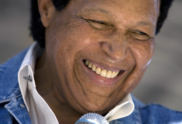 "Chubby Checker at the 50th anniversary of the release of the song ""The Twist"" in Philadelphia Friday July 9, 2010."