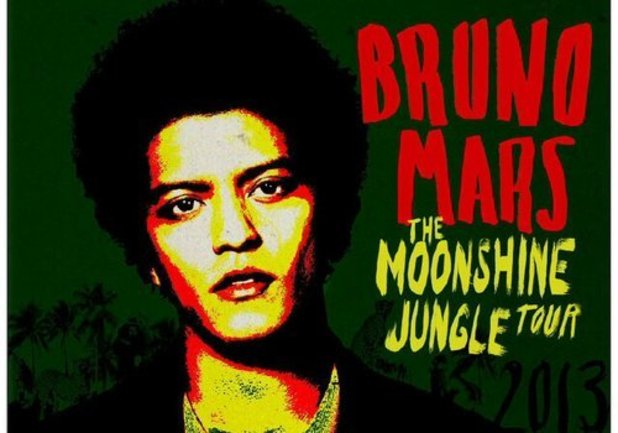 Bruno Mars 'The Moonshine Jungle Tour' poster.