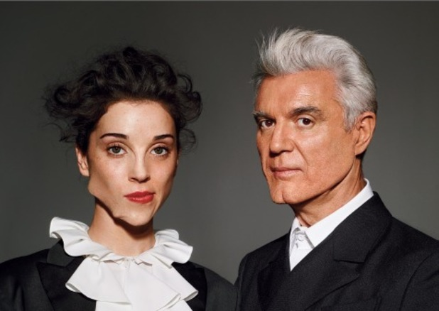 David Byrne and St Vincent 'Love this Giant' artwork