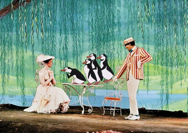 Mary Poppins: Dick van Dyke and Julie Andrews with Petro Vlahos's special effects technology.