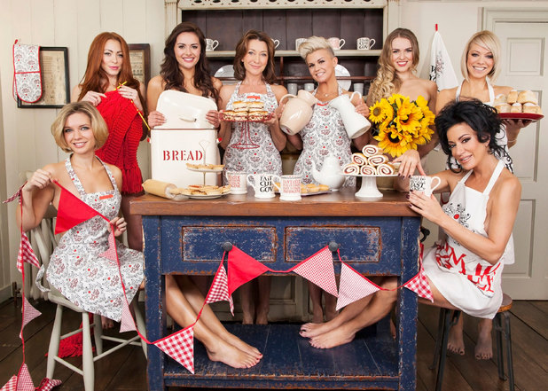 Rachel Riley, Nancy Dell'Olio, Liz McClarnon, Zoe Salmon, Kerry Katona, Cherie Lunghi, Kelsey Beth Crossley and Natasha Hamilton in a Red Nose Day Tea Party photoshoot