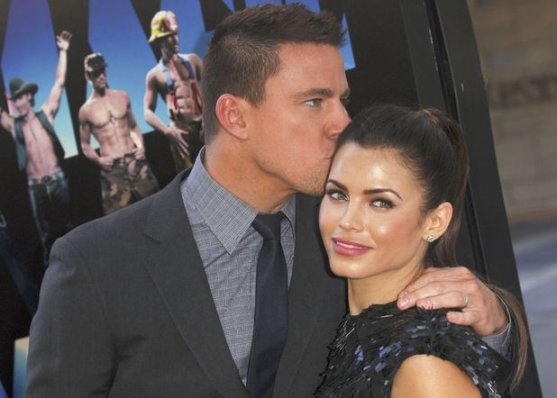 Channing Tatum and wife Jenna Dewan at the 'Magic Mike' film premiere in the USA - June 2012