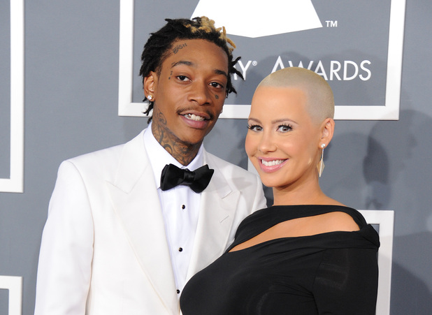 Grammy Awards 2013 red carpet: Wiz Khalifa and Amber Rose