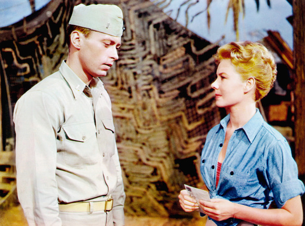 John Kerr with Mitzi Gaynor in the 1958 movie 'South Pacific'