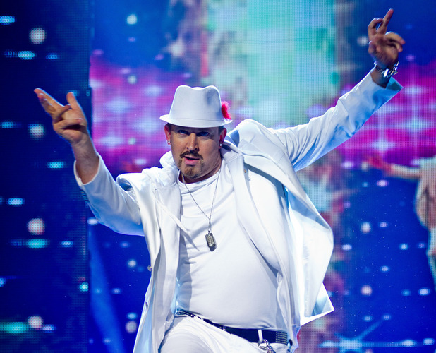 Tim Vine as Justin Timberlake in Let's Dance For Comic Relief.