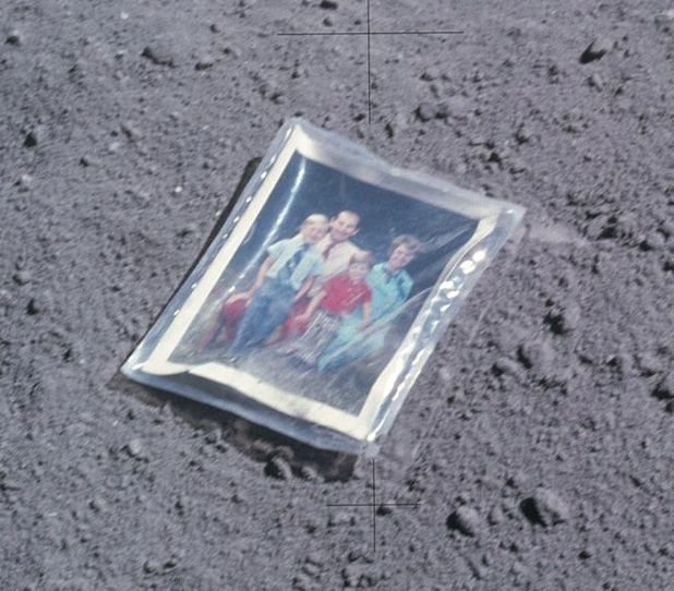 Family on the moon