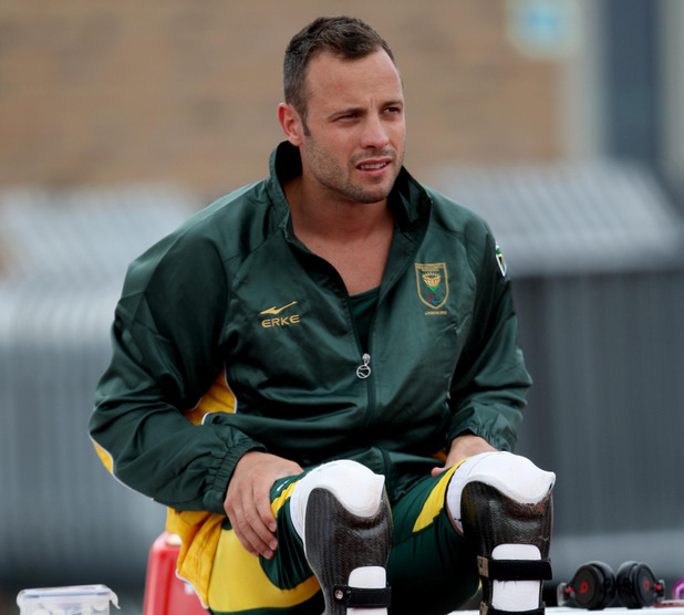 Oscar Pistorius in training for the London 2012 Paralympics