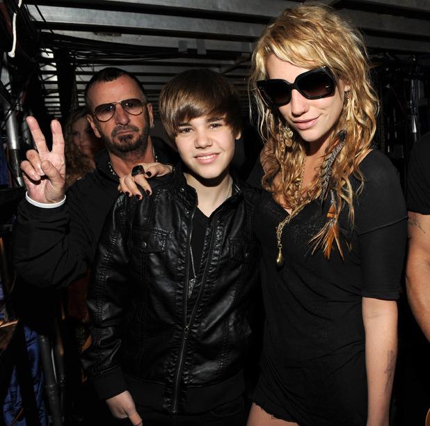 Ringo Starr, Justin Bieber, Ke$ha, Staples Centre, LA