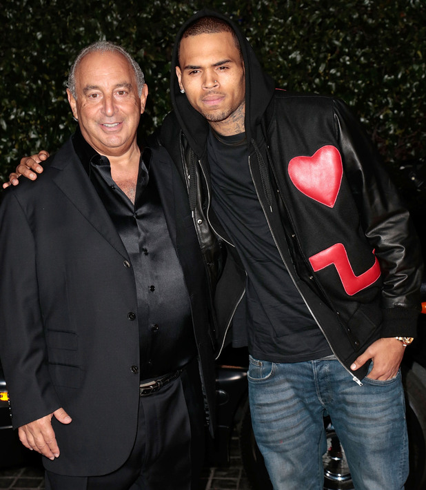 Sir Philip Green,Chris Brown