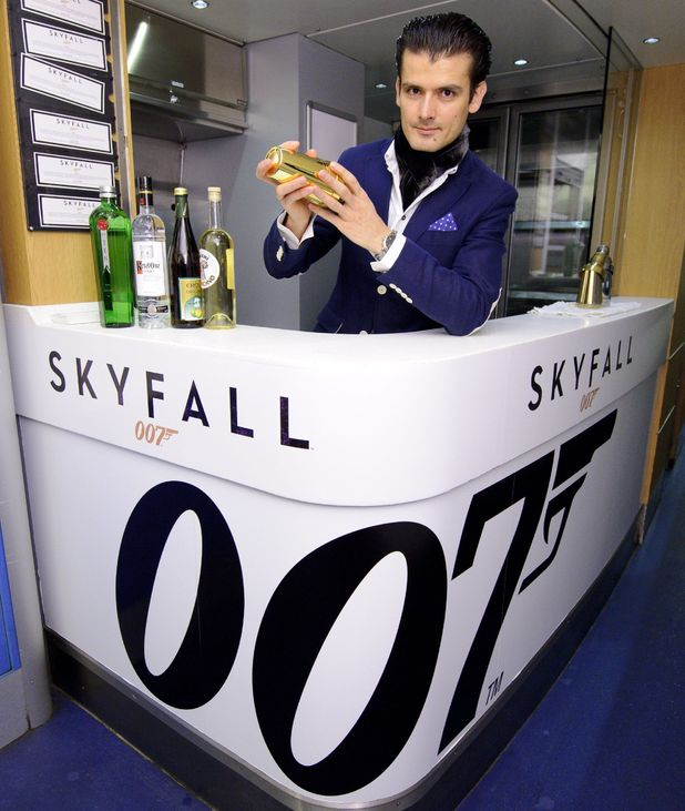 The 007 bar on board the Skyfall train.