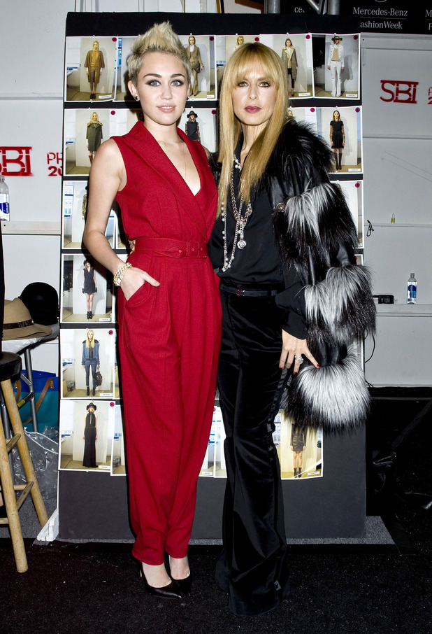 Miley Cyrus, Rachel Zoe, New York Fashion Week 2013