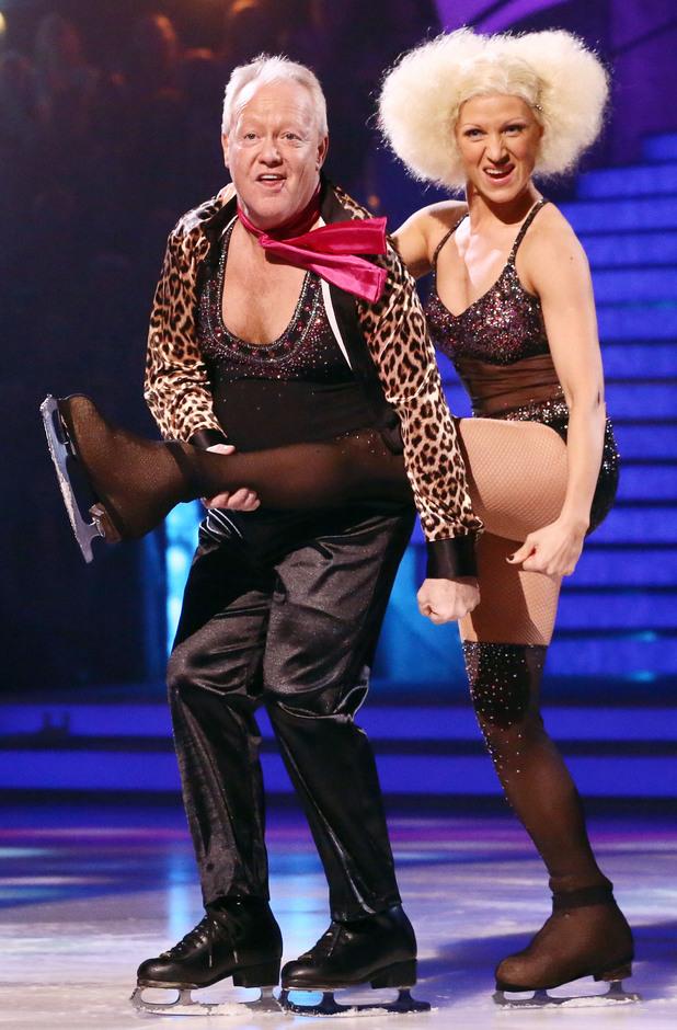 Dancing on Ice: Keith Chegwin and Olga Sharutenko.
