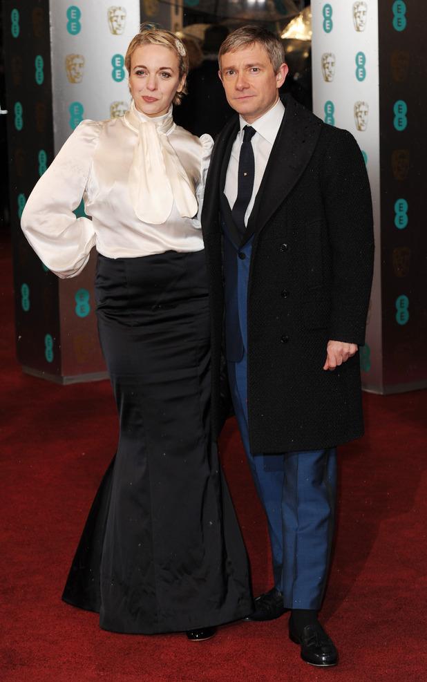 Amanda Abbington, Martin Freeman, BAFTAs 2013