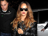 Rihanna arriving back at her London hotel.