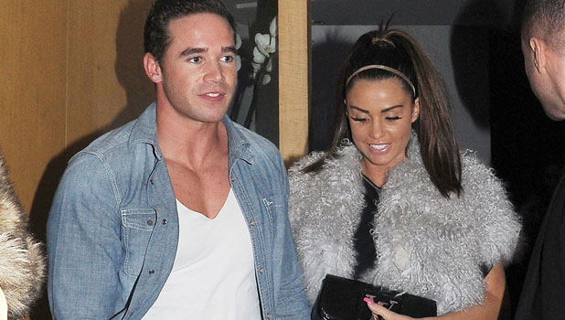 Katie Price and Kieran Hayler at Nobu Berkley restaurant, London, Britain - 14 Feb 2013