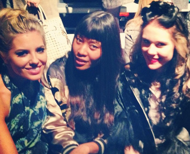 Mollie King, Kate Nash and VV Brown at London Fashion Week