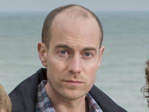 ITV's 'Broadchurch': Matthew Gravelle as Joe Miller, Adam Wilson as Tom Miller and Olivia Colman as Ellie Miller