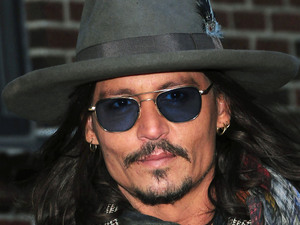 Johnny Depp, Ed Sullivan Theater for 'The Late Show With David Letterman