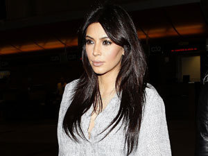 Kim Kardashian at Los Angeles International Airport, Los Angeles, America - 15 Feb 2013