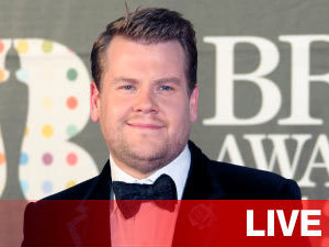 Live Banner: James Corden for the Brits 2013