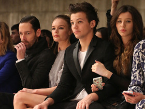 Michael Polish,Kate Bosworth,Louis Tomlinson,girlfriend Eleanor Calder, Topshop Unique 2013, London Fashion Week