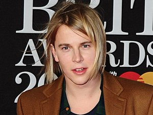 Tom Odell arriving for the 2013 Brit Awards at the O2 Arena, London