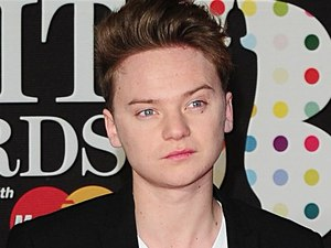 Conor Maynard arriving for the 2013 Brit Awards at the O2 Arena, London