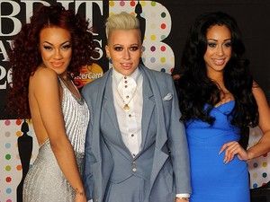 Stooshe arriving for the 2013 Brit Awards at the O2 Arena, London