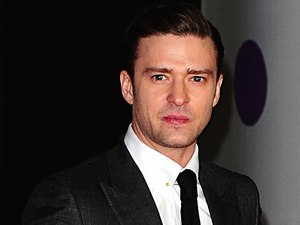 Justin Timberlake arriving for the 2013 Brit Awards at the O2 Arena, London