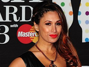 Preeya Kalidas arriving for the 2013 Brit Awards at the O2 Arena, London