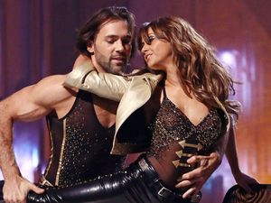 Dancing on Ice: Samia Ghadie and Sylvain Longchambon perform their routine.