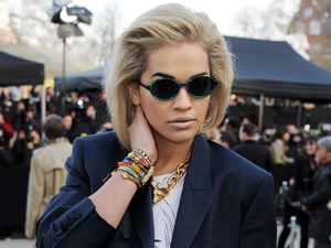 Rita Ora, Burberry Prorsum show, Autumn Winter 2013, London Fashion Week
