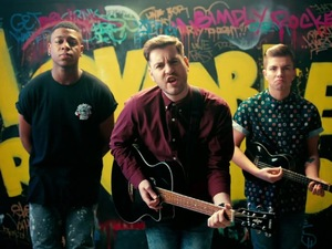 Loveable Rogues in 'What A Night' music video.