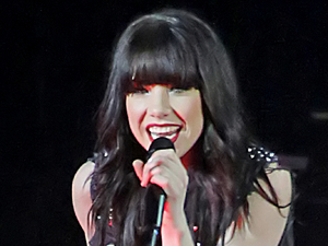 Carly Rae Jepsen performing at the Manchester Arena.