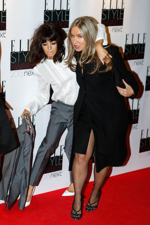 Claudia Winkleman appears worse for wear at the Elle Style Awards held at the Savoy