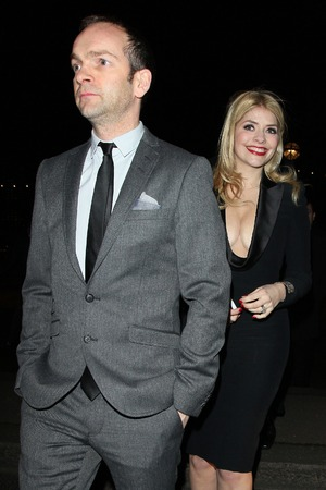 Holly Willoughby, Dan Baldwin, Warner Music Brits party