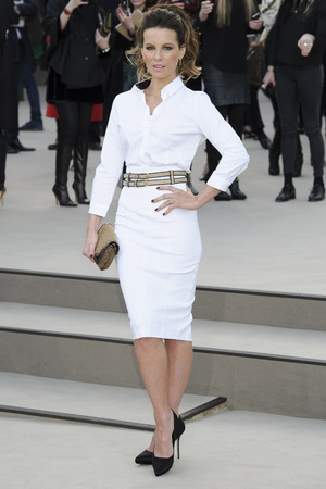 Kate Beckinsale, Burberry Prorsum show, Autumn Winter 2013, London Fashion Week