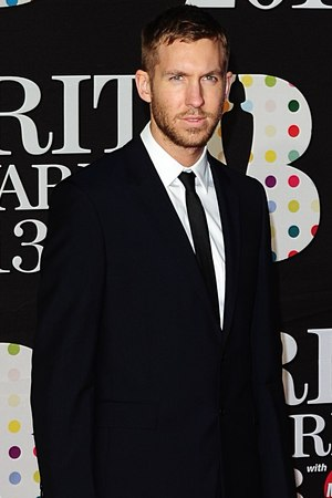 Calvin Harris arriving for the 2013 Brit Awards at the O2 Arena, London