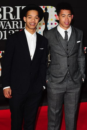 Rizzle Kicks arriving for the 2013 Brit Awards at the O2 Arena, London