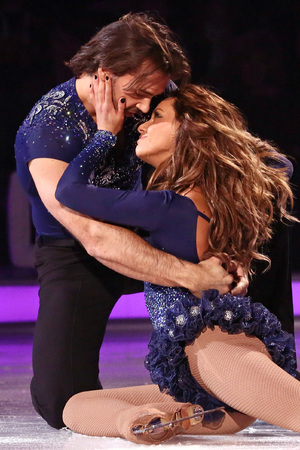 Dancing on Ice: Samia Ghadie and Sylvain Longchambon in their skate-off.