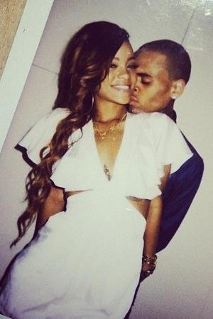Rihanna's birthday pics with Chris Brown