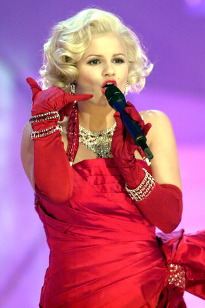 Kerry Katona as Marilyn Monroe on 'Celebrity Stars in Their Eyes'