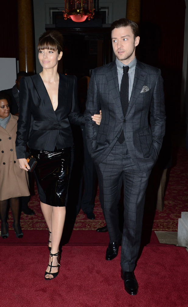 Jessica Biel, Justin Timberlake, Tom Ford show, Autumn Winter 2013, London Fashion Week