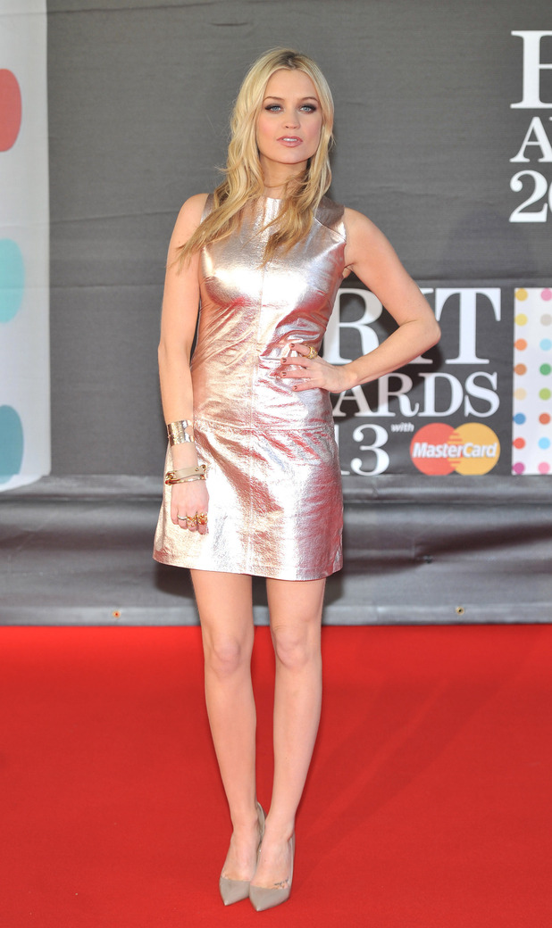 Laura Whitmore, 2013 Brit Awards (Brits) held at the O2 arena